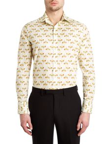 Dragonfly point collar slim fit shirt