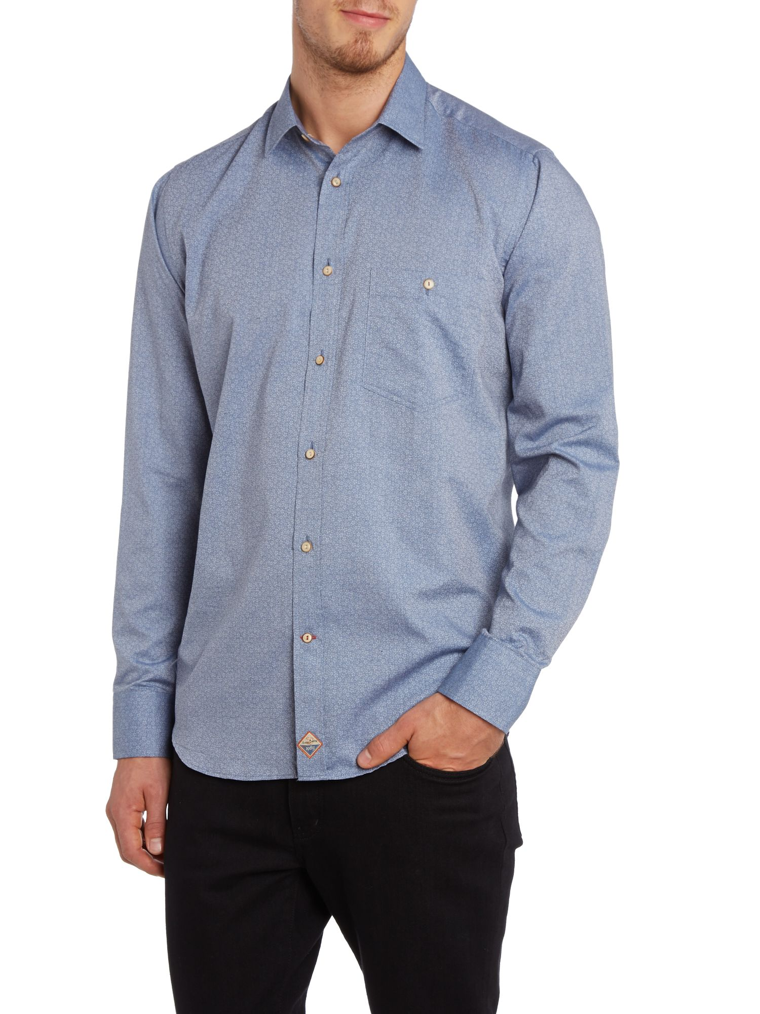 Ditsy floral one pocket slim fit shirt