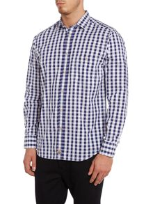Large gingham slim fit shirt