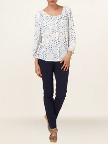 Sadie swallow print blouse
