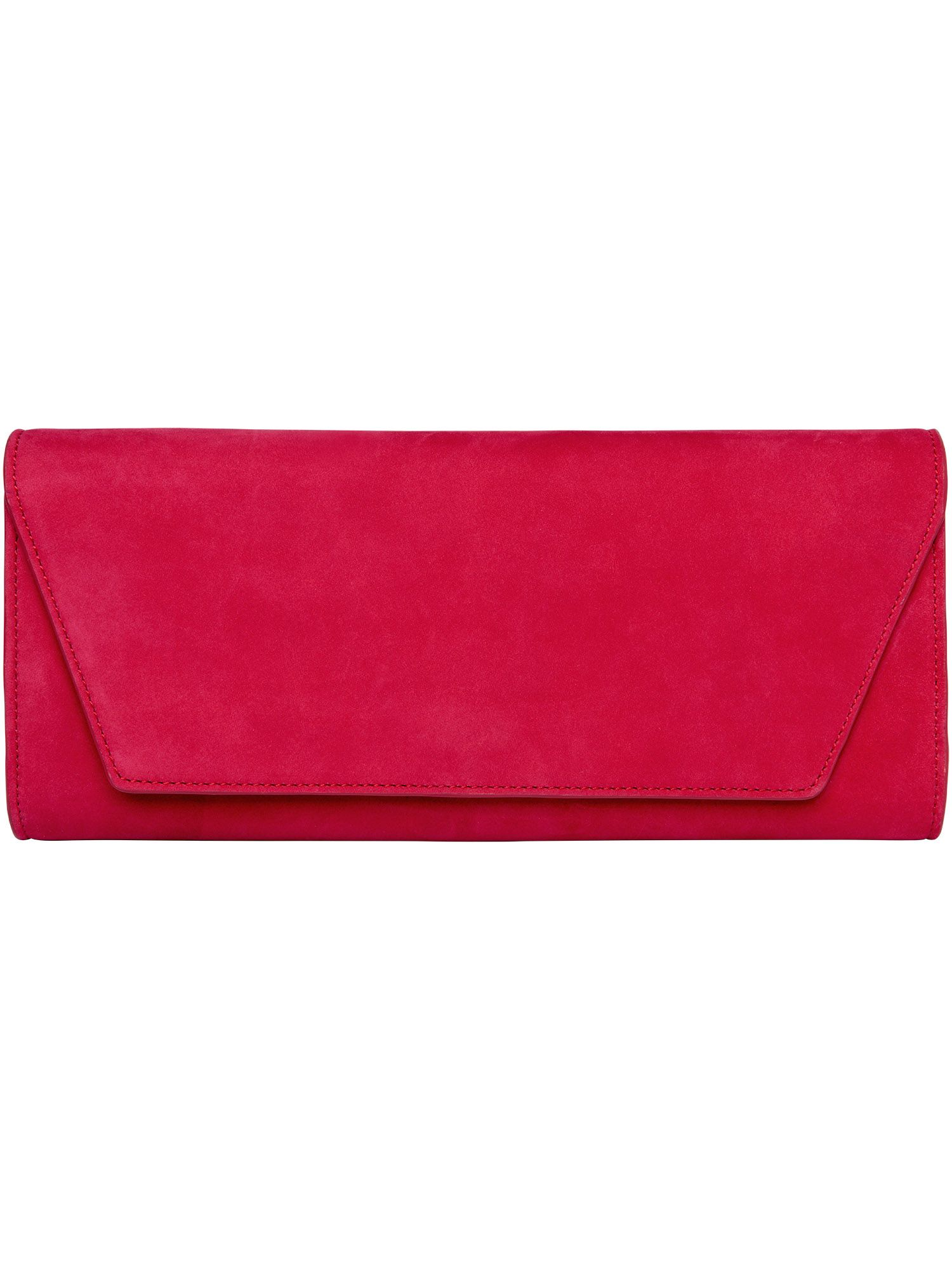 Carey suede clutch bag