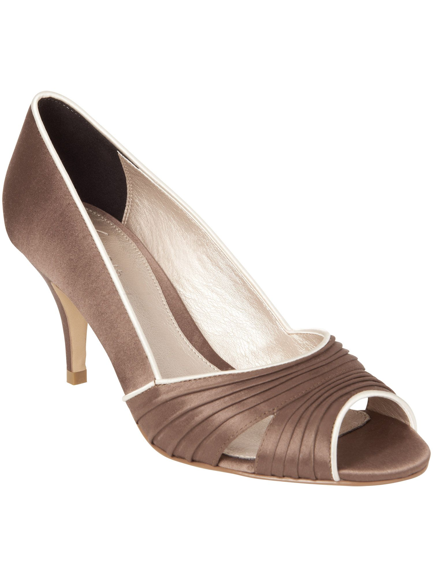 Fia pleat peep toe shoes