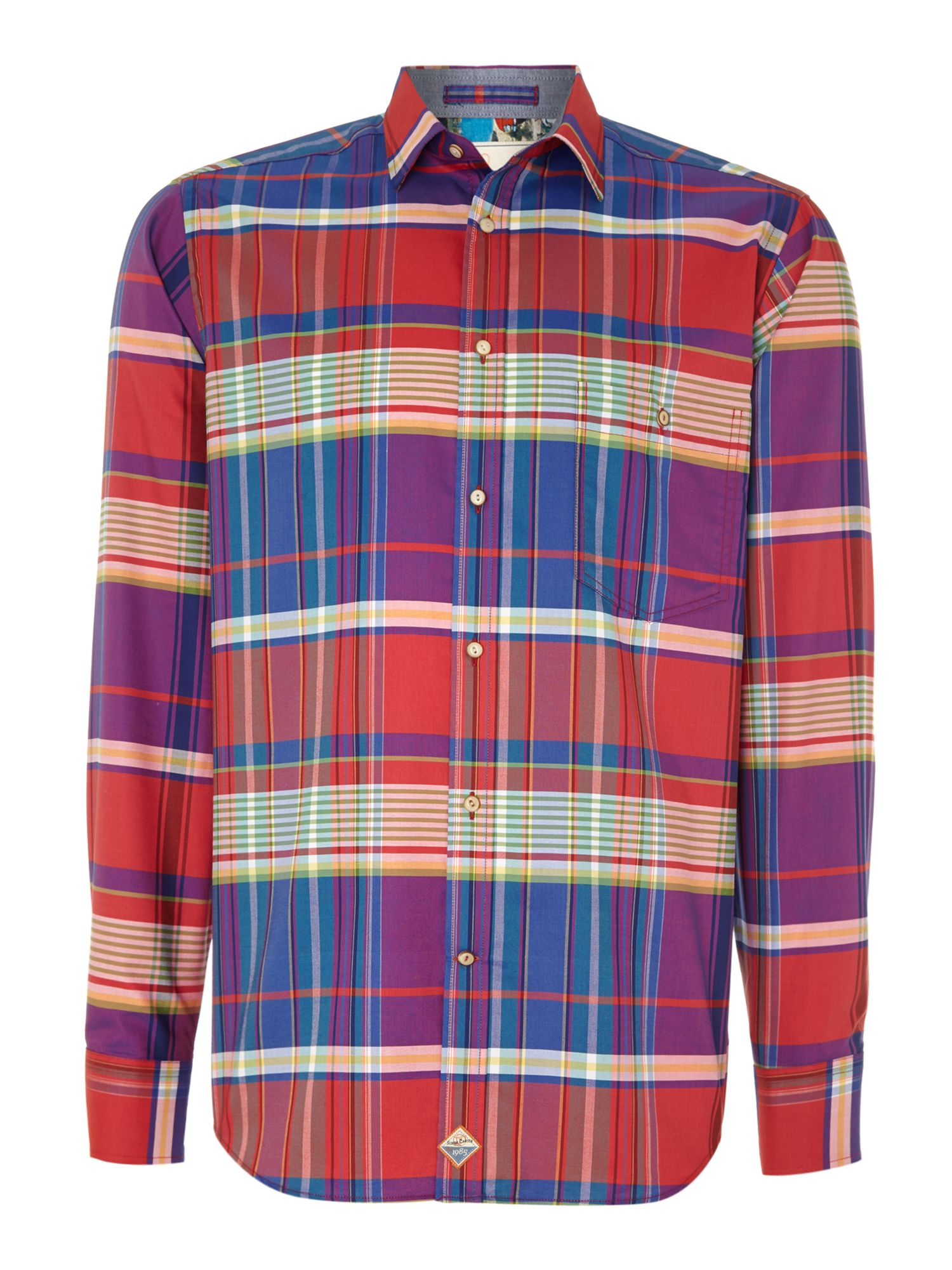 Madras check slim fit shirt
