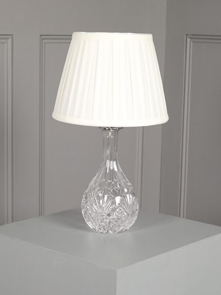 Shabby Chic Rosie clear glass table lamp