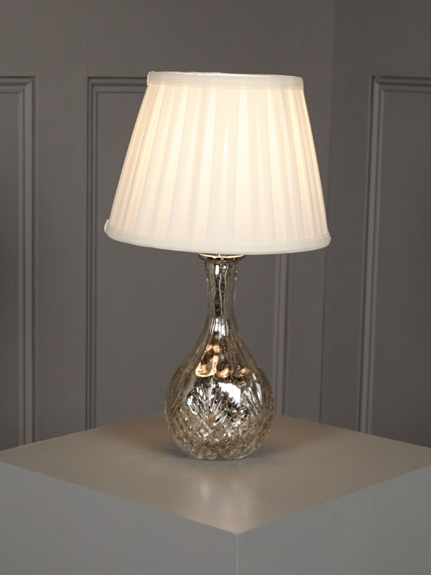 Rosie cut glass mercury table lamp