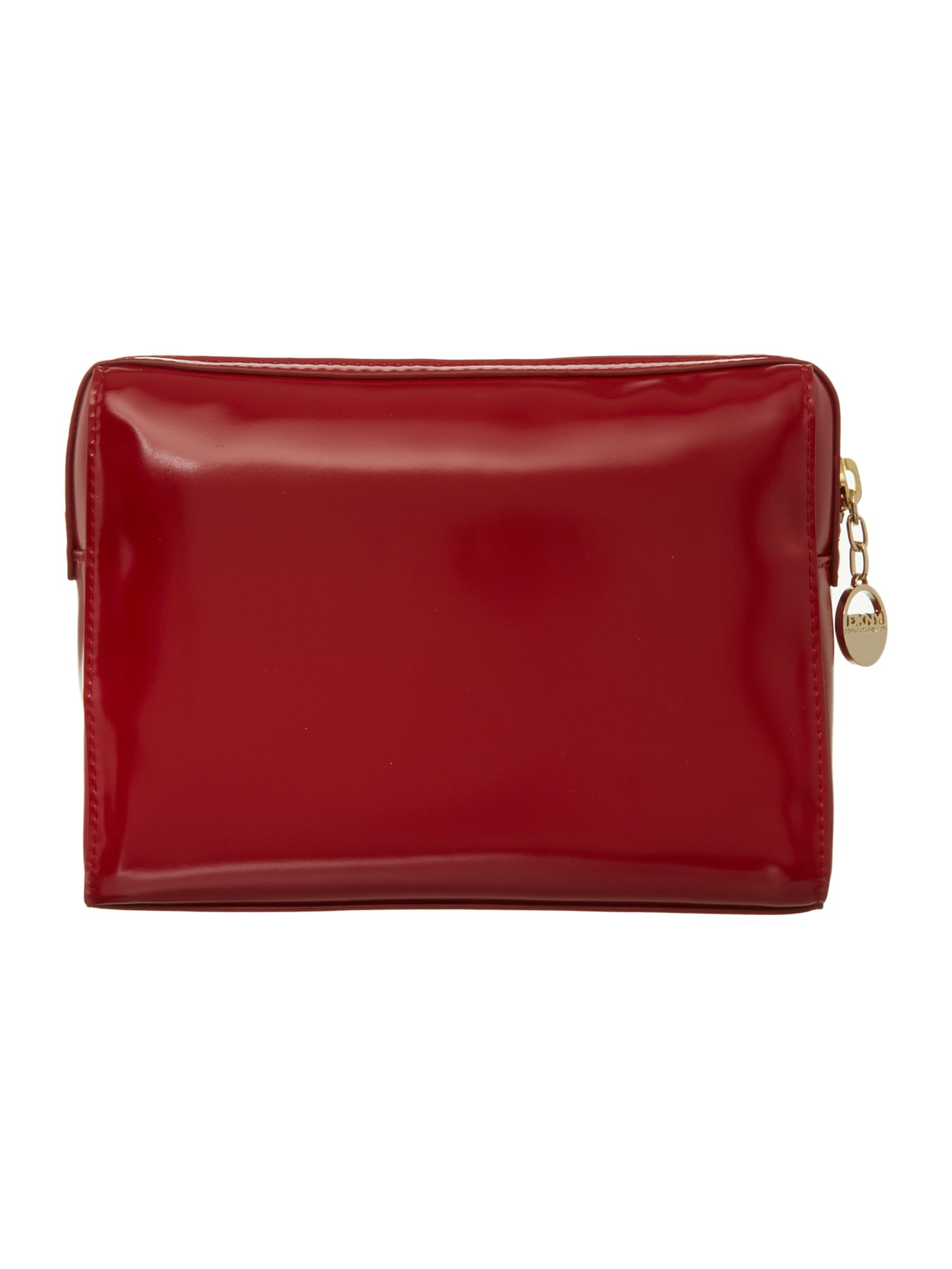 Hudson red cosmetic bag