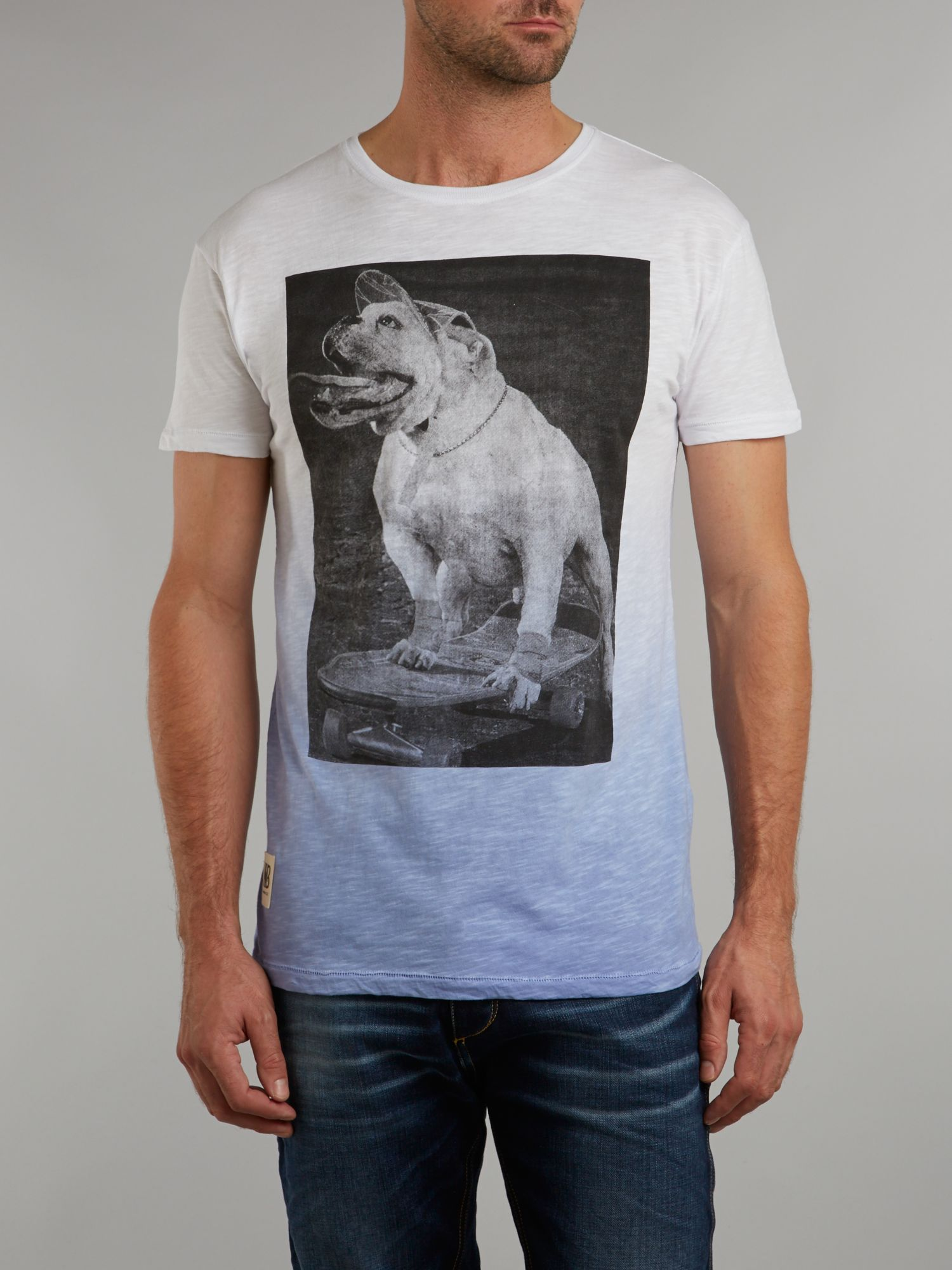 Dog ombre t shirt
