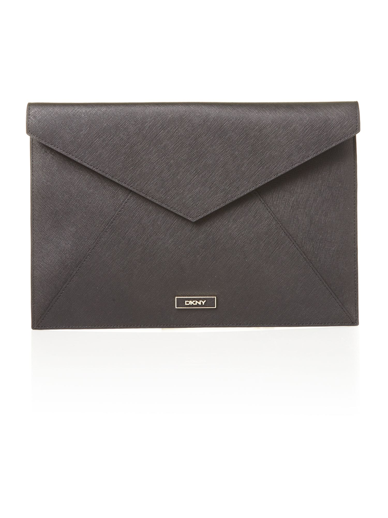 Saffiano black document case