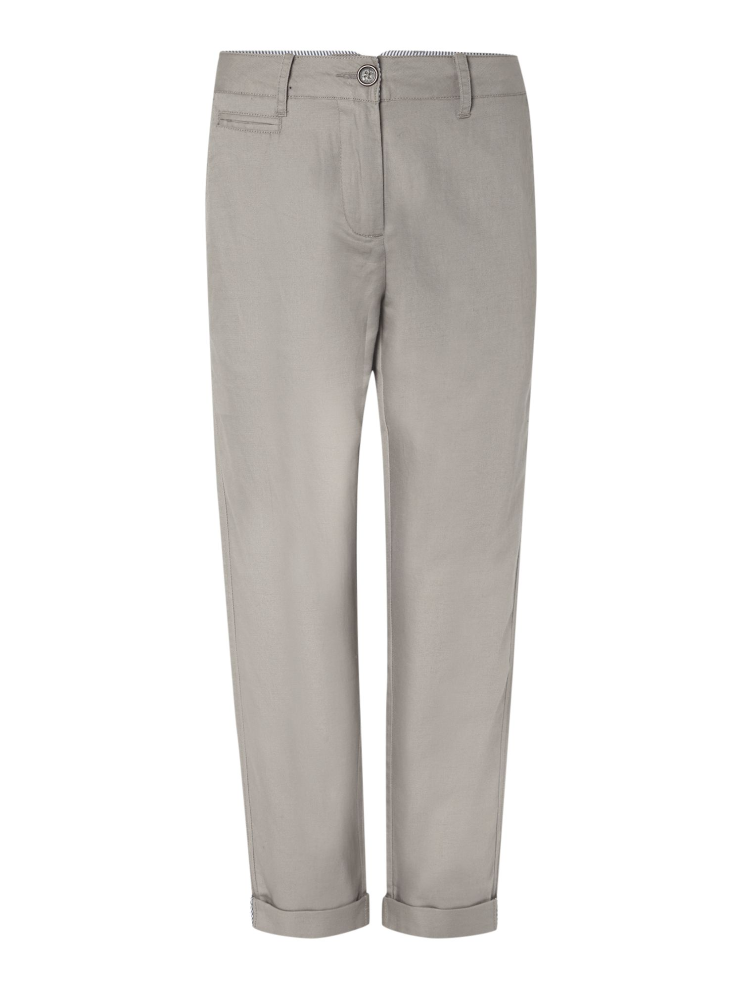 Linen mix chino trousers