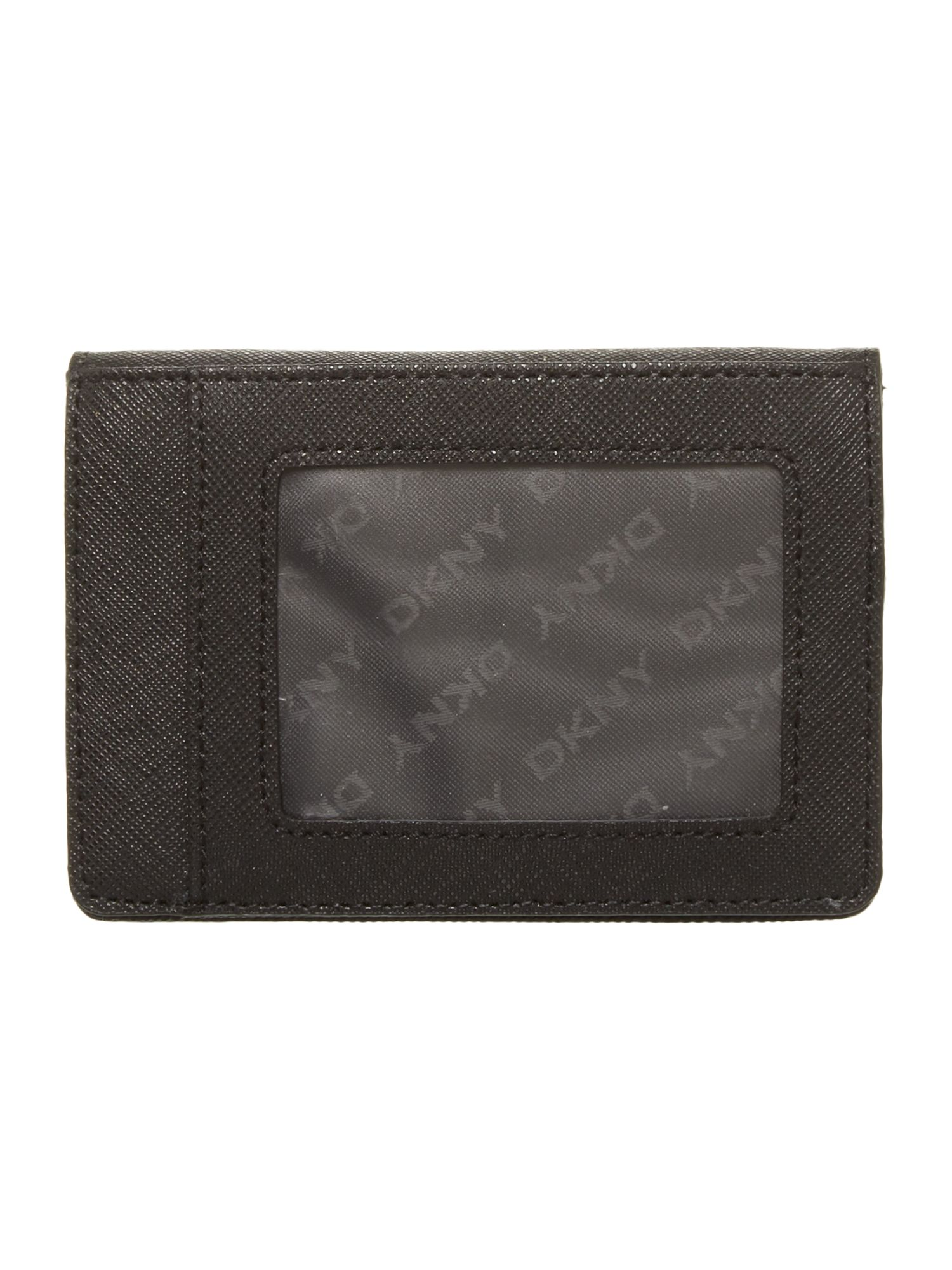 Saffiano black travel card holder
