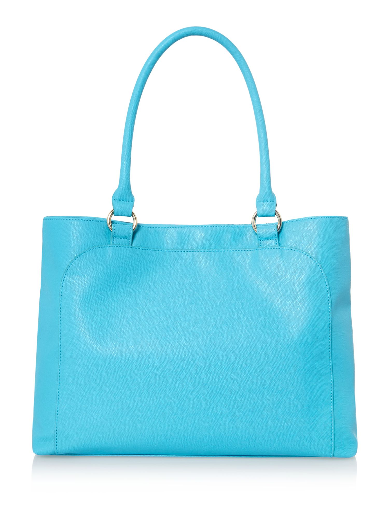 Turquoise leather shoulder bag