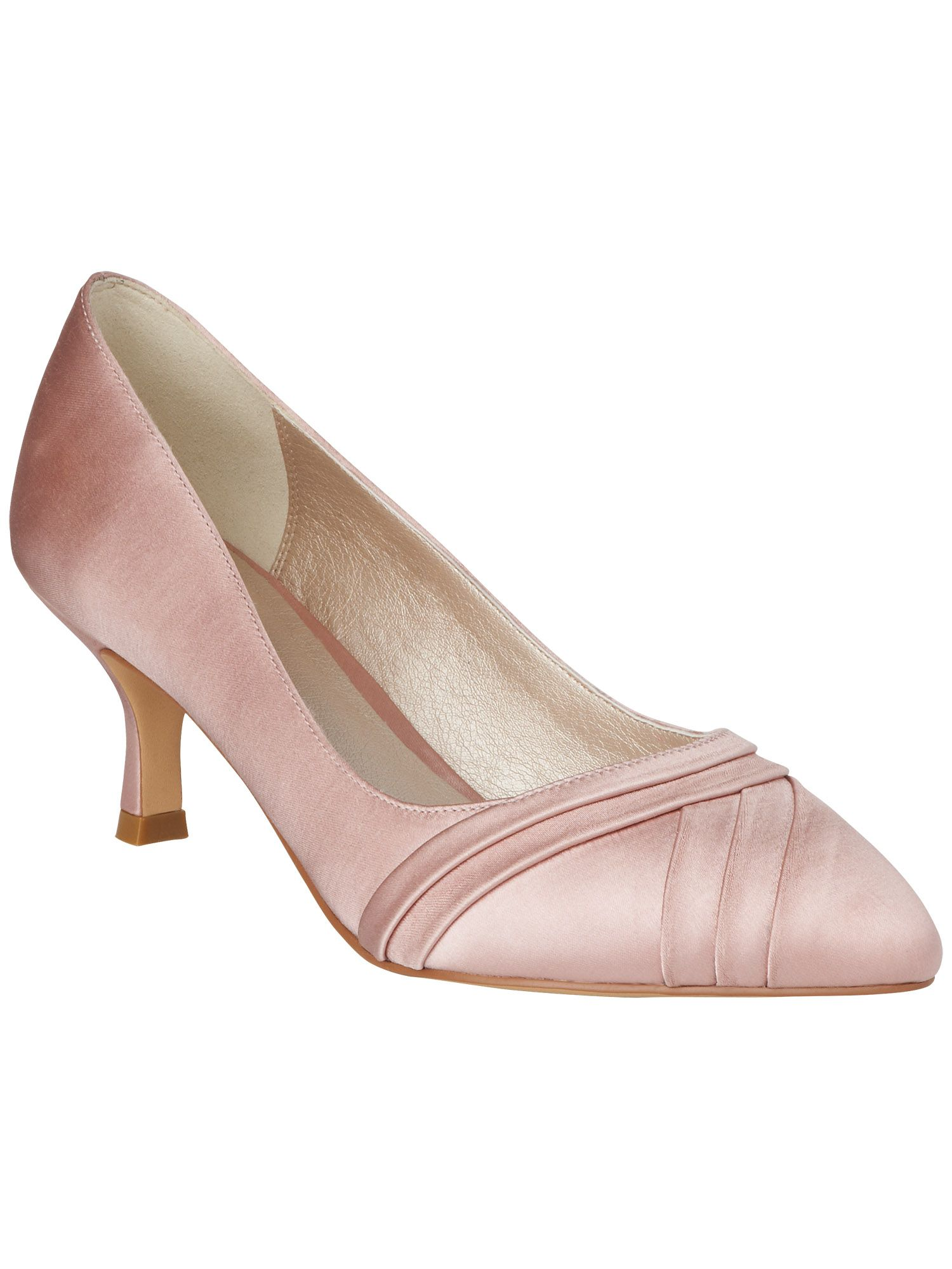 Aliana satin court shoes