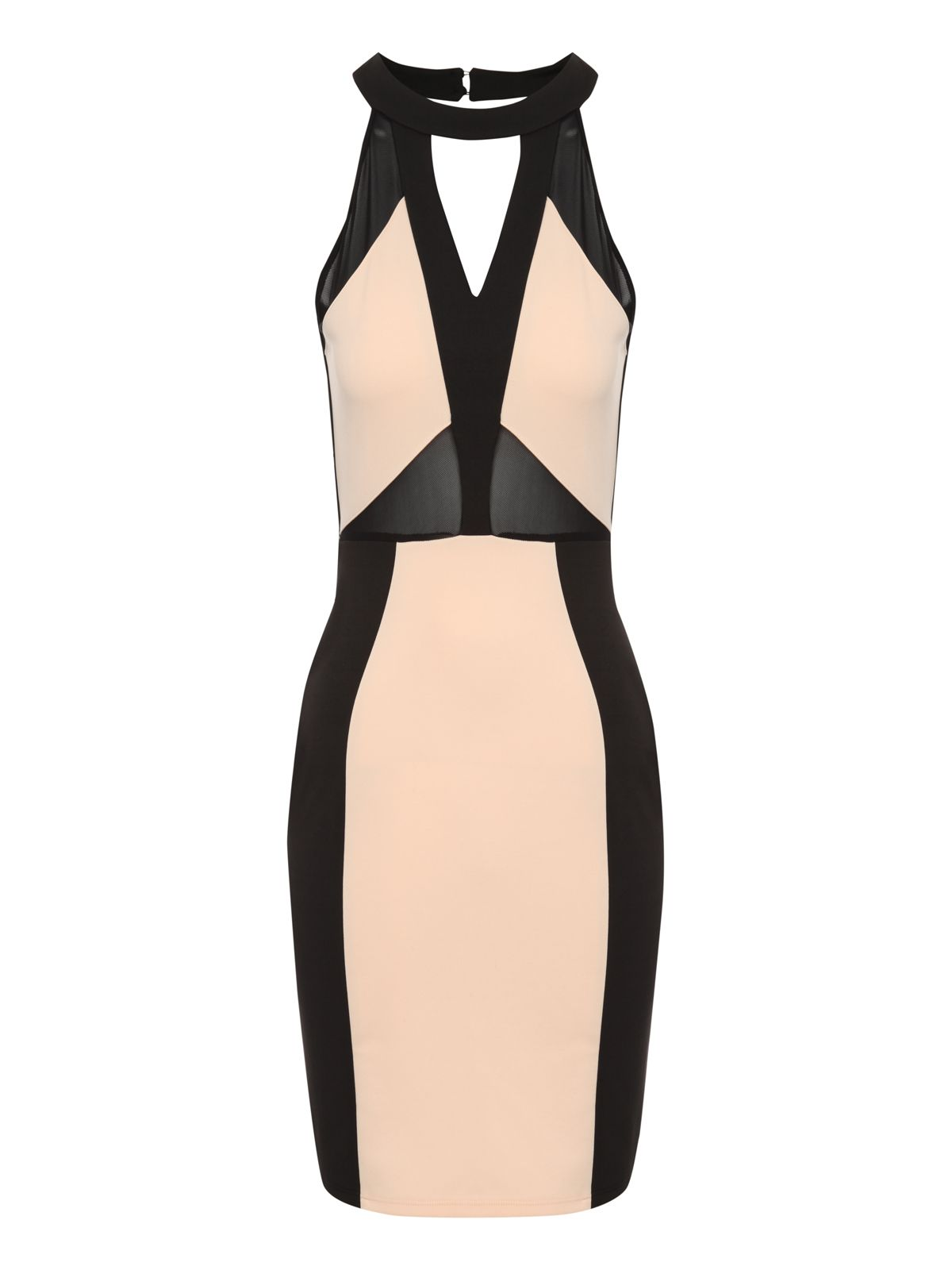 Mesh panel cut out dress