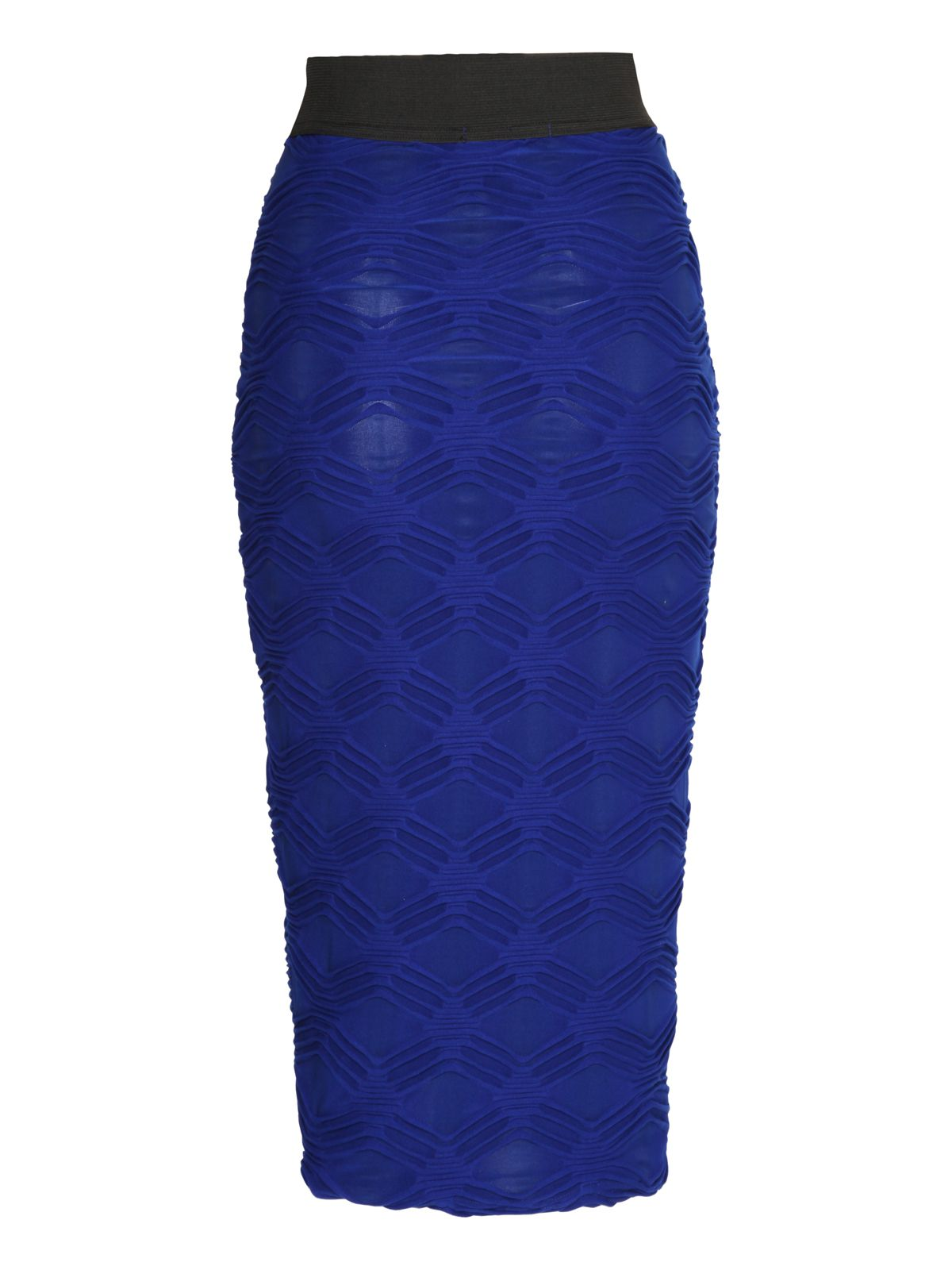Graphic wave pencil skirt