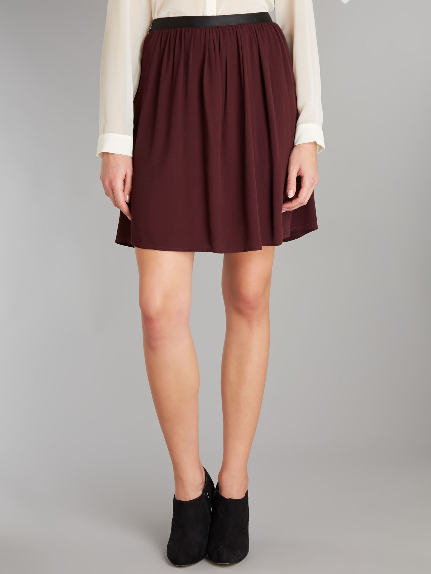 Mini plain skater skirt