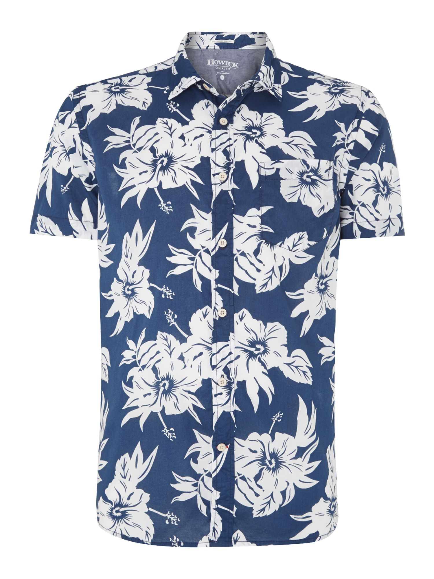 pacific print short sleeve shirt