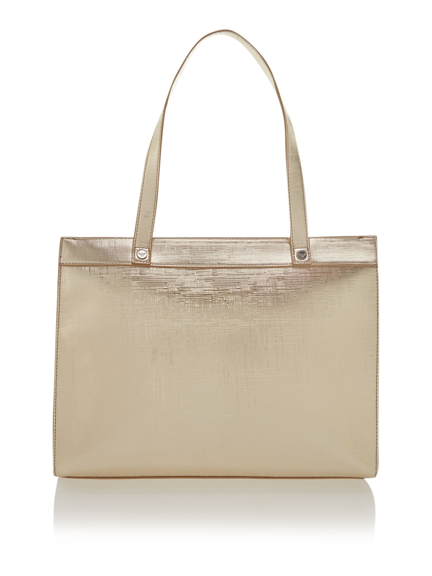 Medium metallic gold tote bag