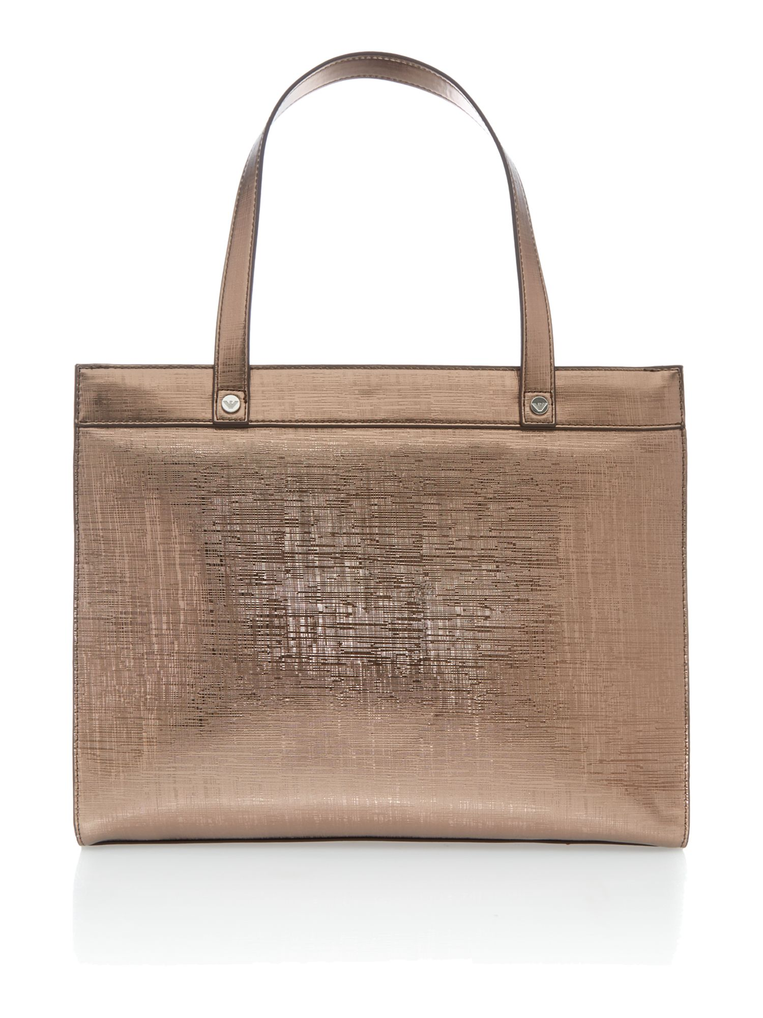 Medium metallic silver tote bag