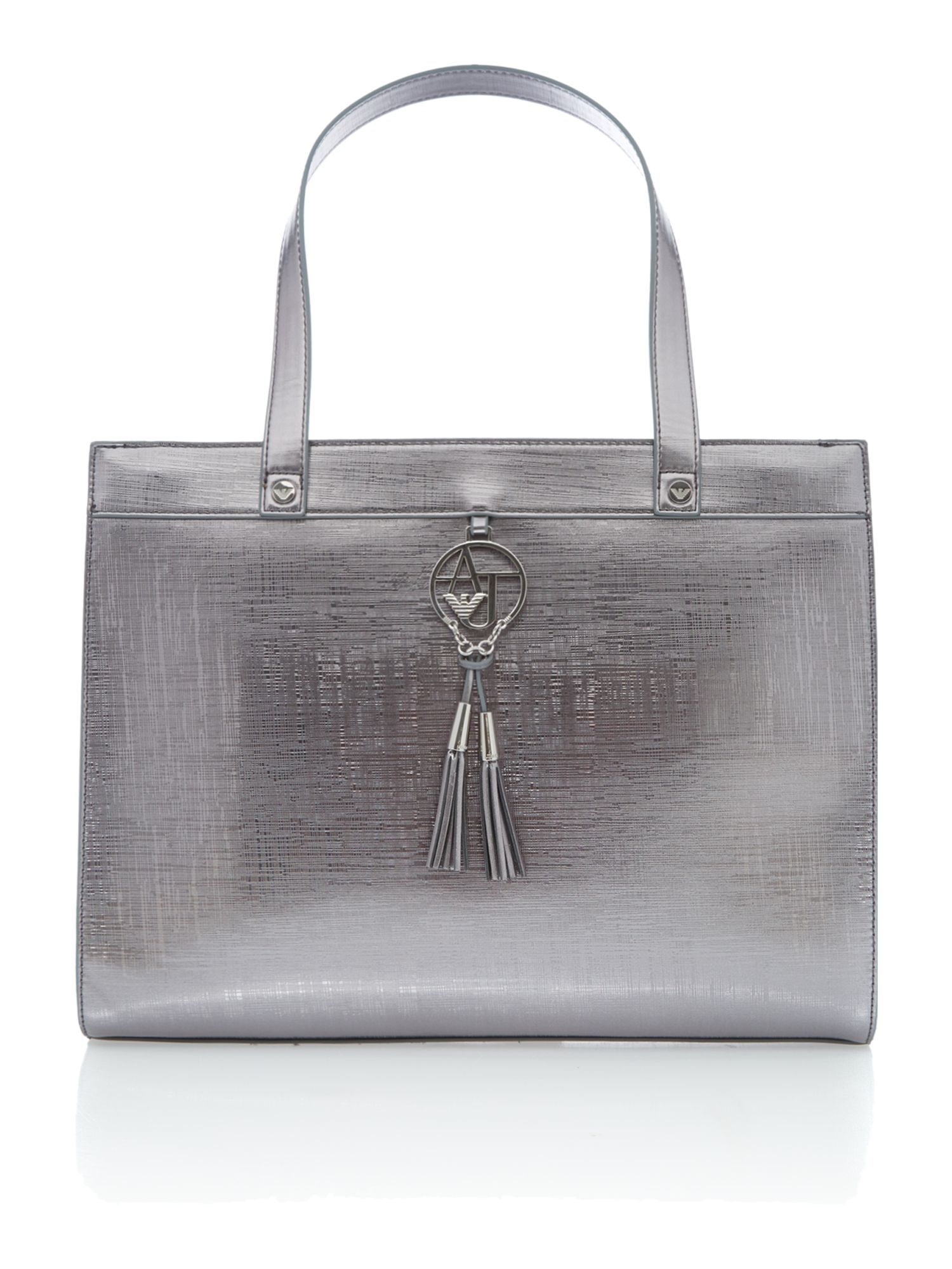 Medium metallic pink tote bag
