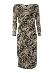 Side ruched dress with sleeve