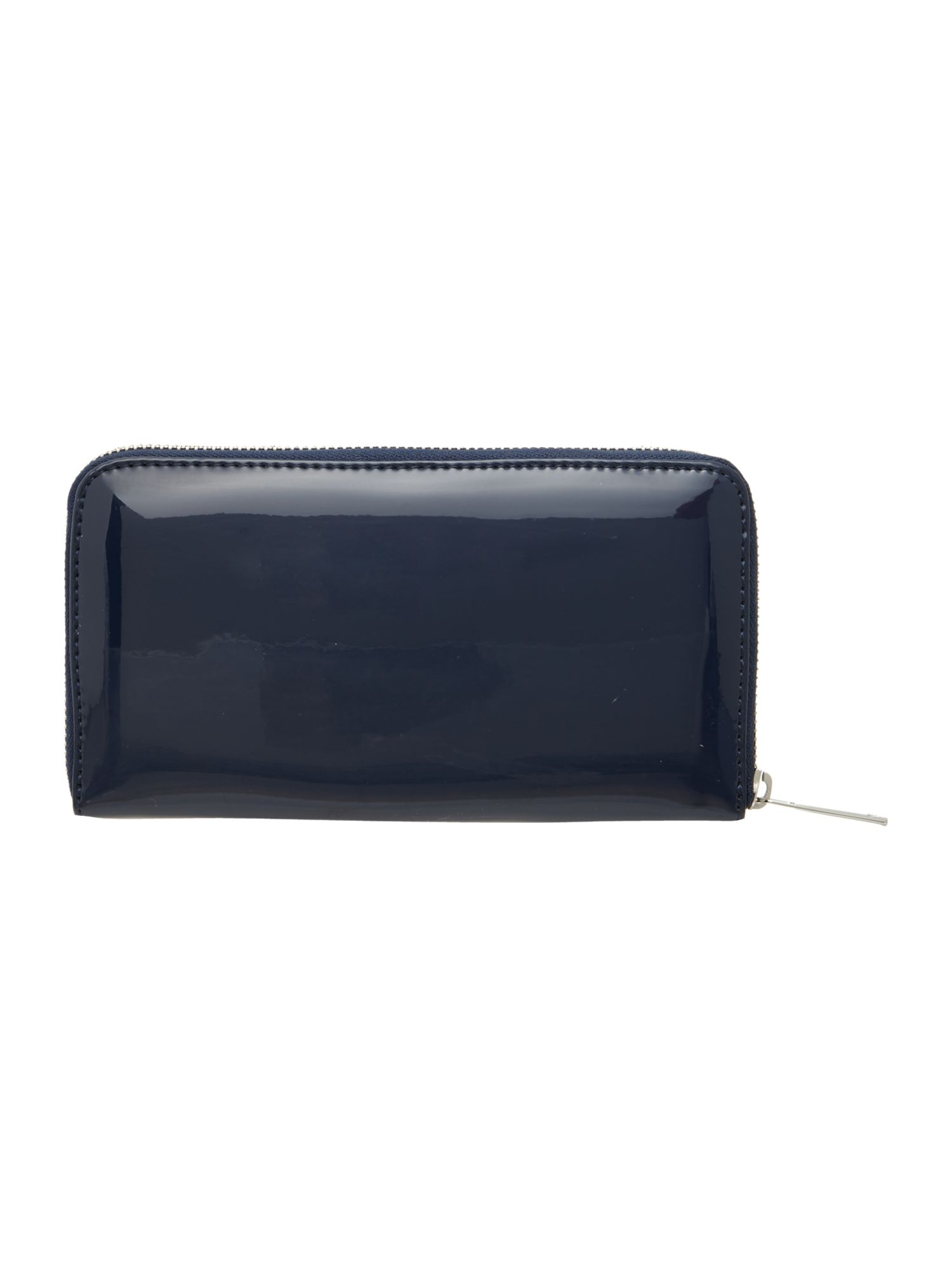 Navy large ziparound purse