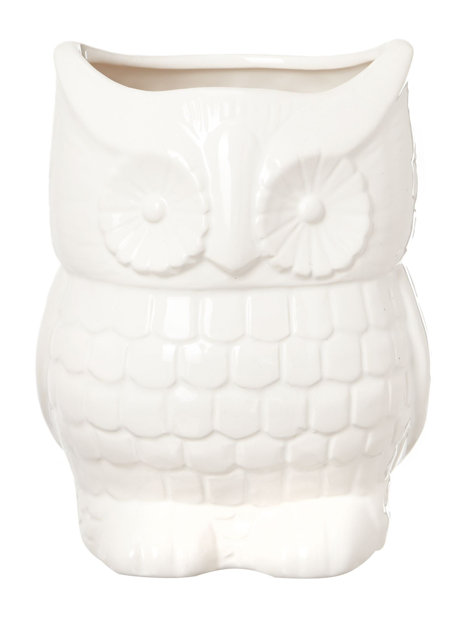 Owl utensil jar