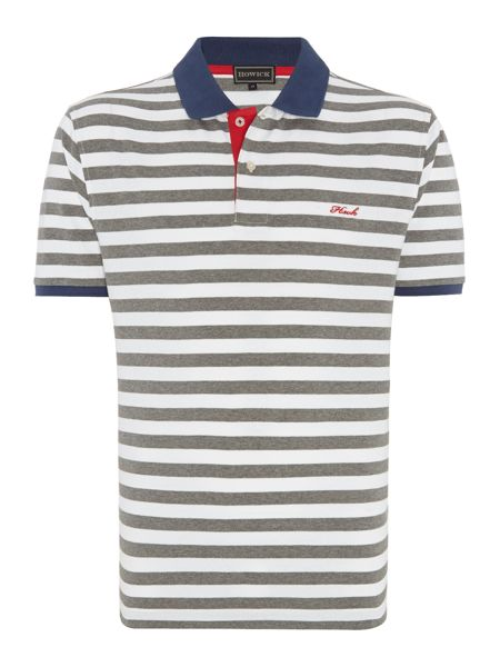 falmouth stripe short sleeve polo