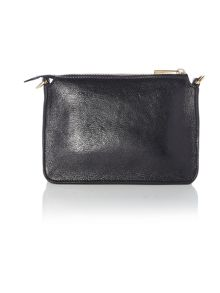 Black bow crossbody bag with chain strap