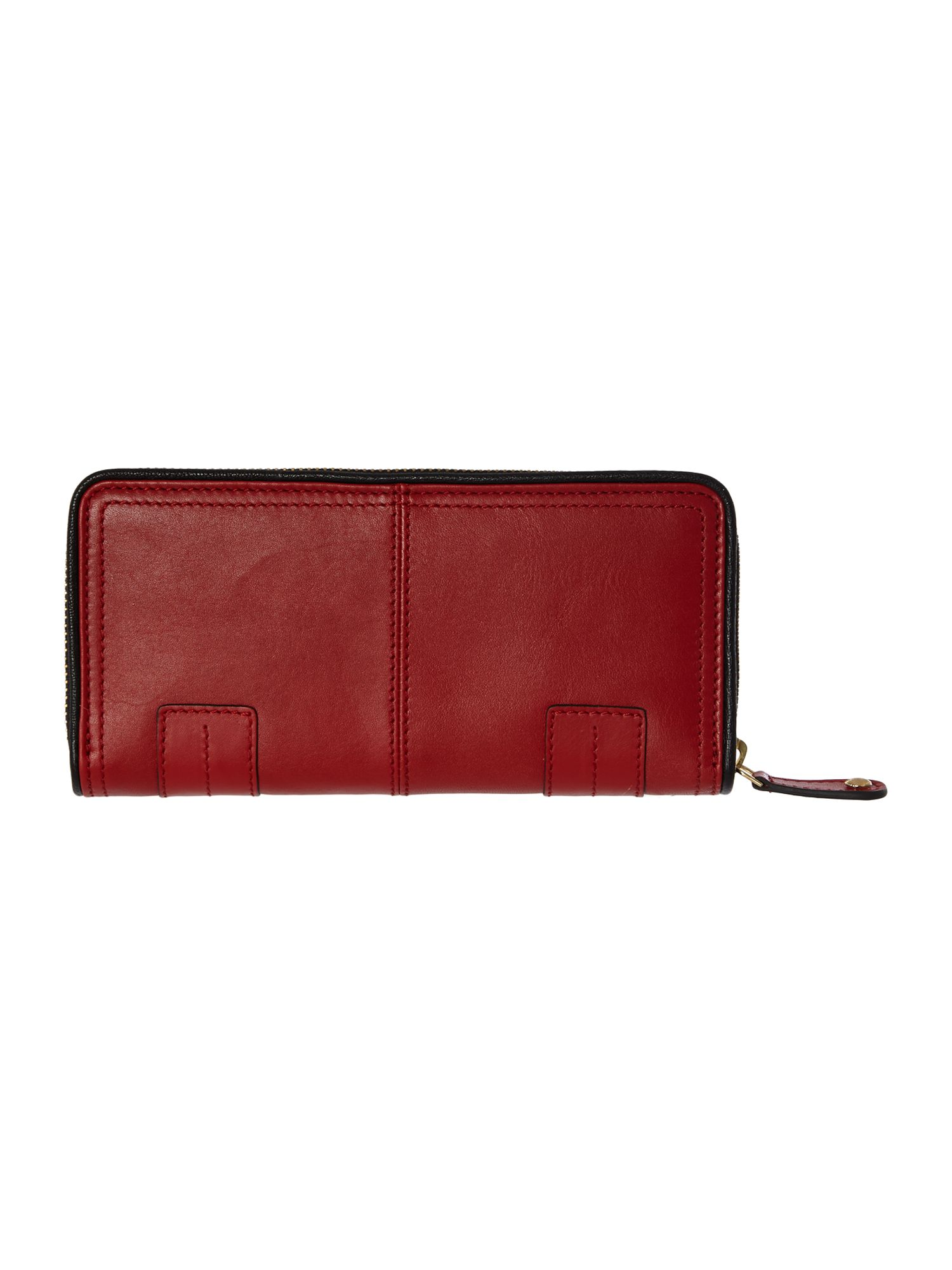 Pippa red large ziparound purse