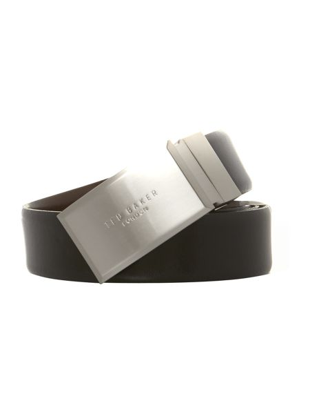 Ted Baker Reverse logo plaque belt