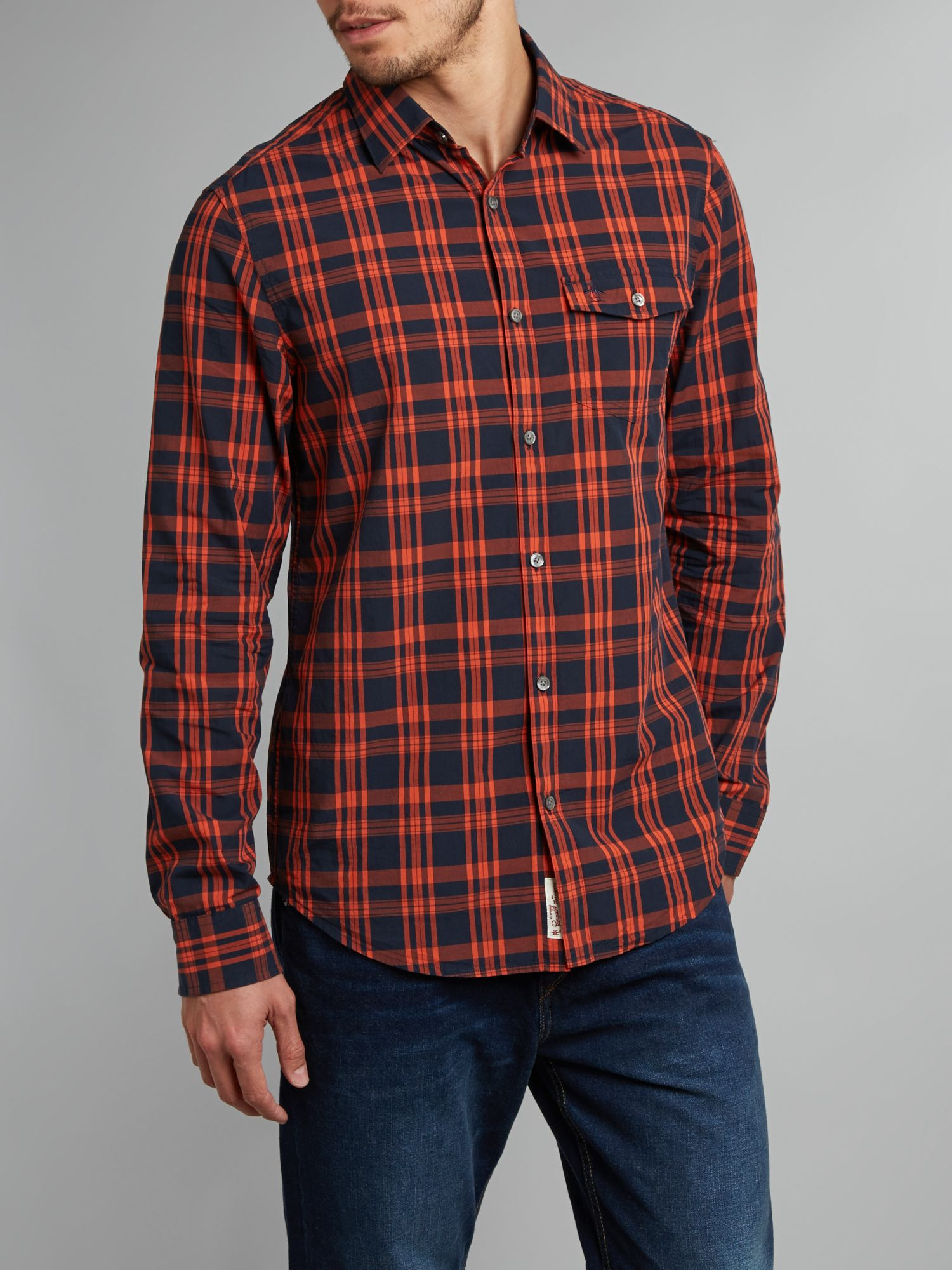 Two colour plaid shirt