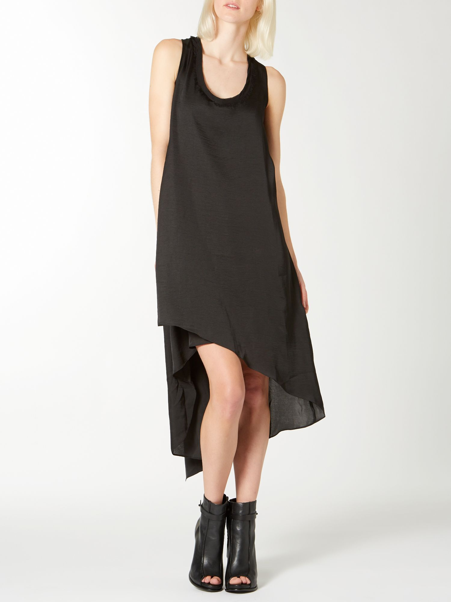 Long tail wrap dress