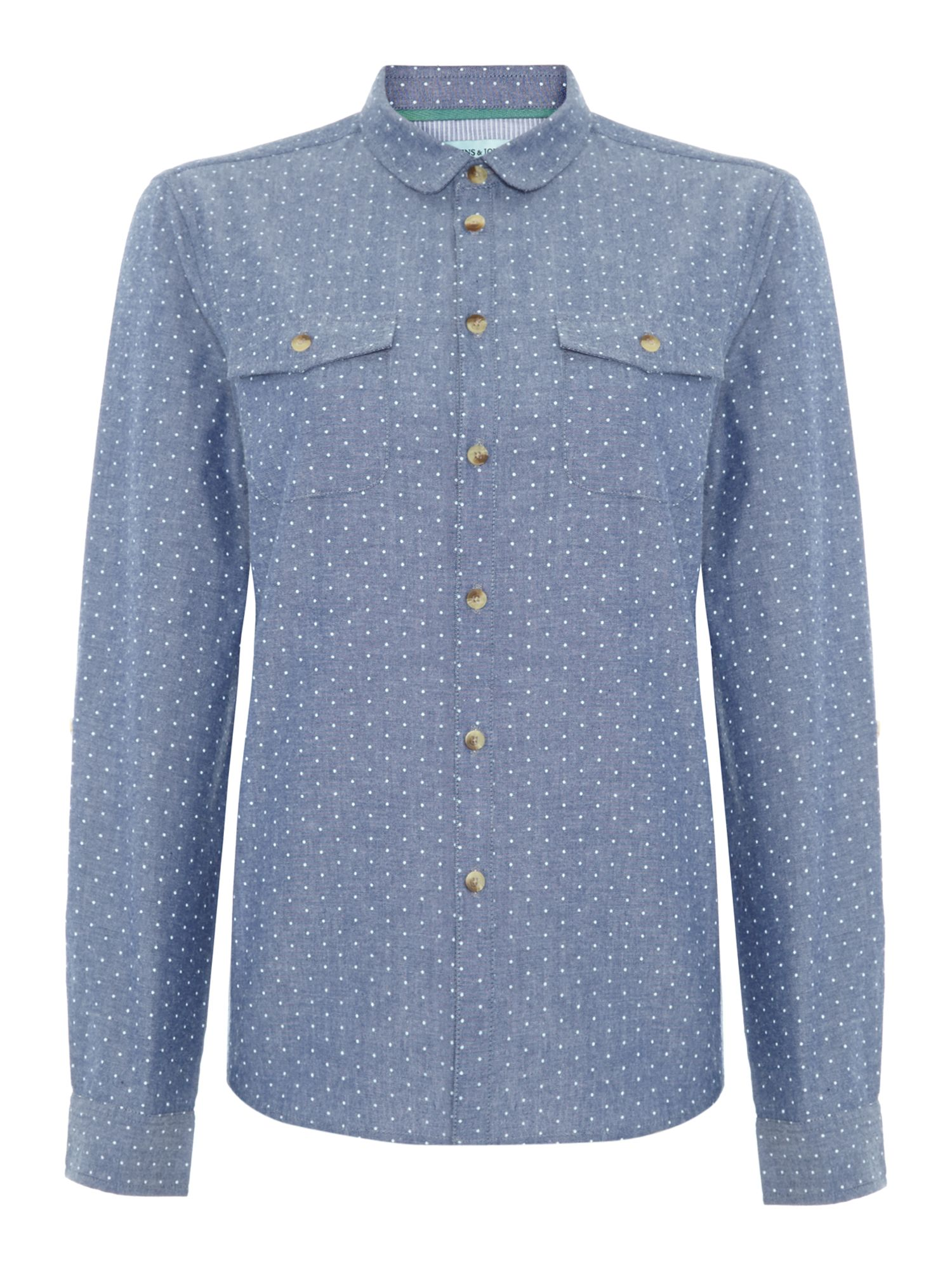 Chambray spot top shirt