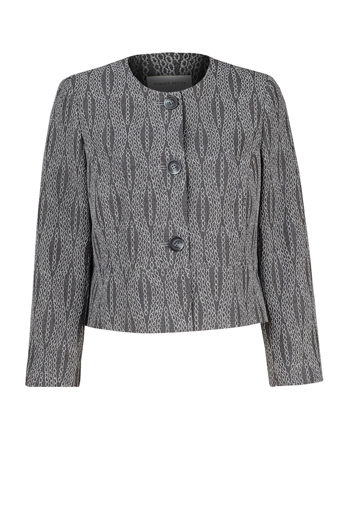 Linear spot textured jacket