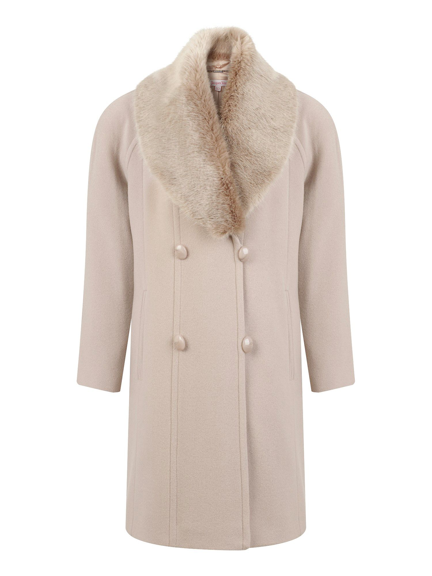 Palomino faux fur collar coat