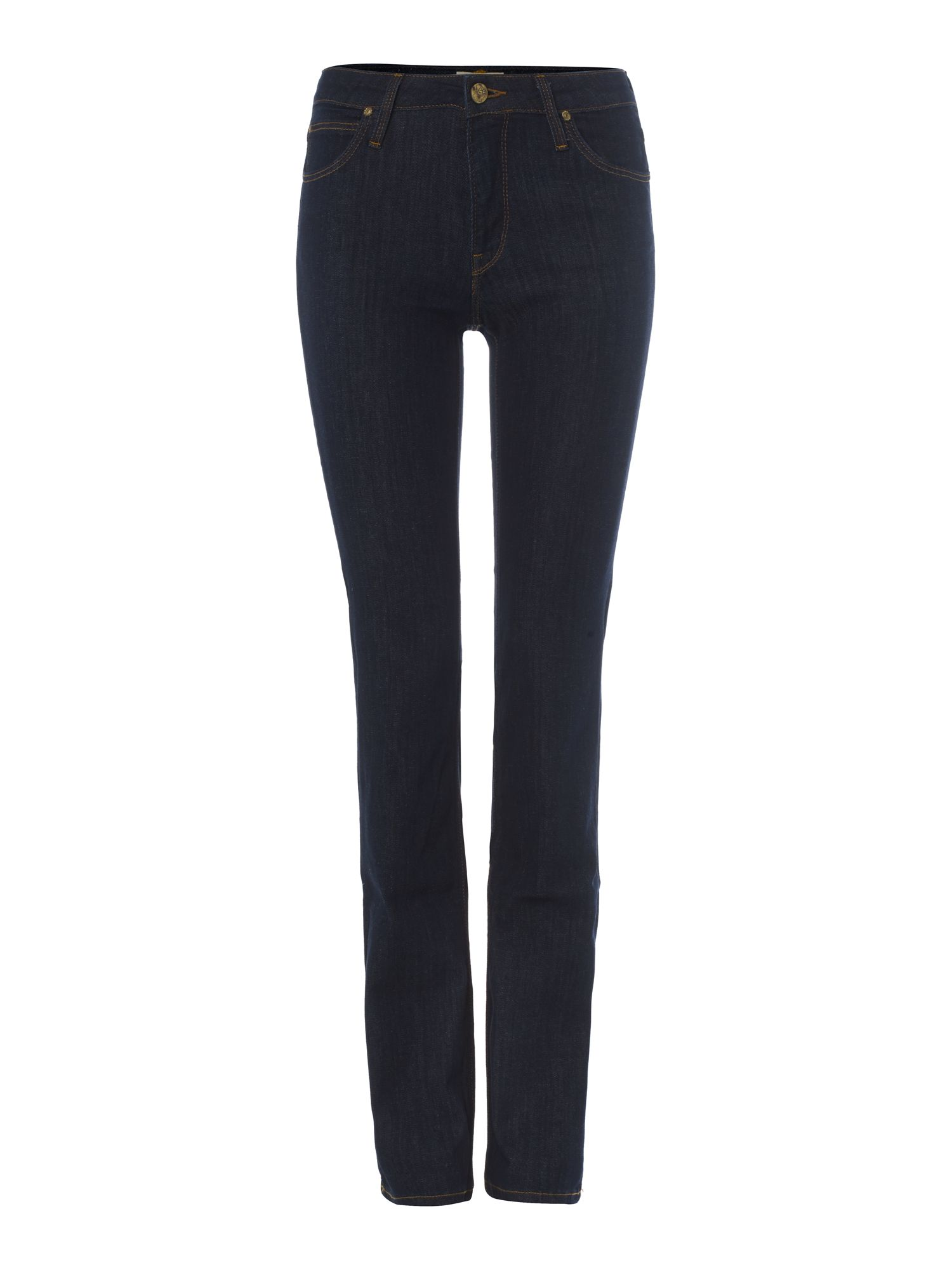 Marion straight leg jeans in Solid Blue
