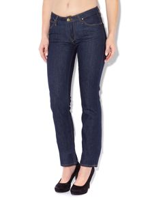 Lee Marion straight leg jeans in solid blue