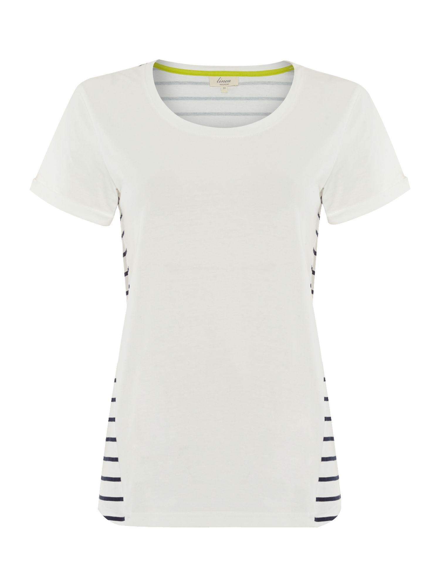Stripe back jersey tee
