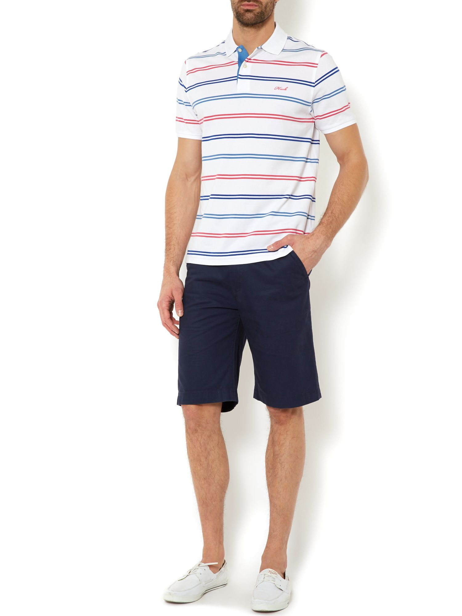seabury pique stripe short sleeve polo