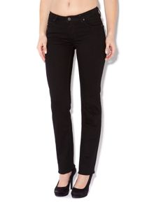 Marion straight leg jeans in Clean Black