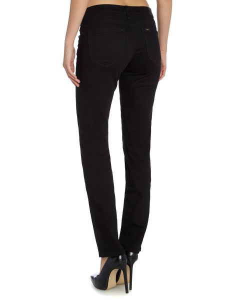 Lee Marion straight leg jeans in Clean Black