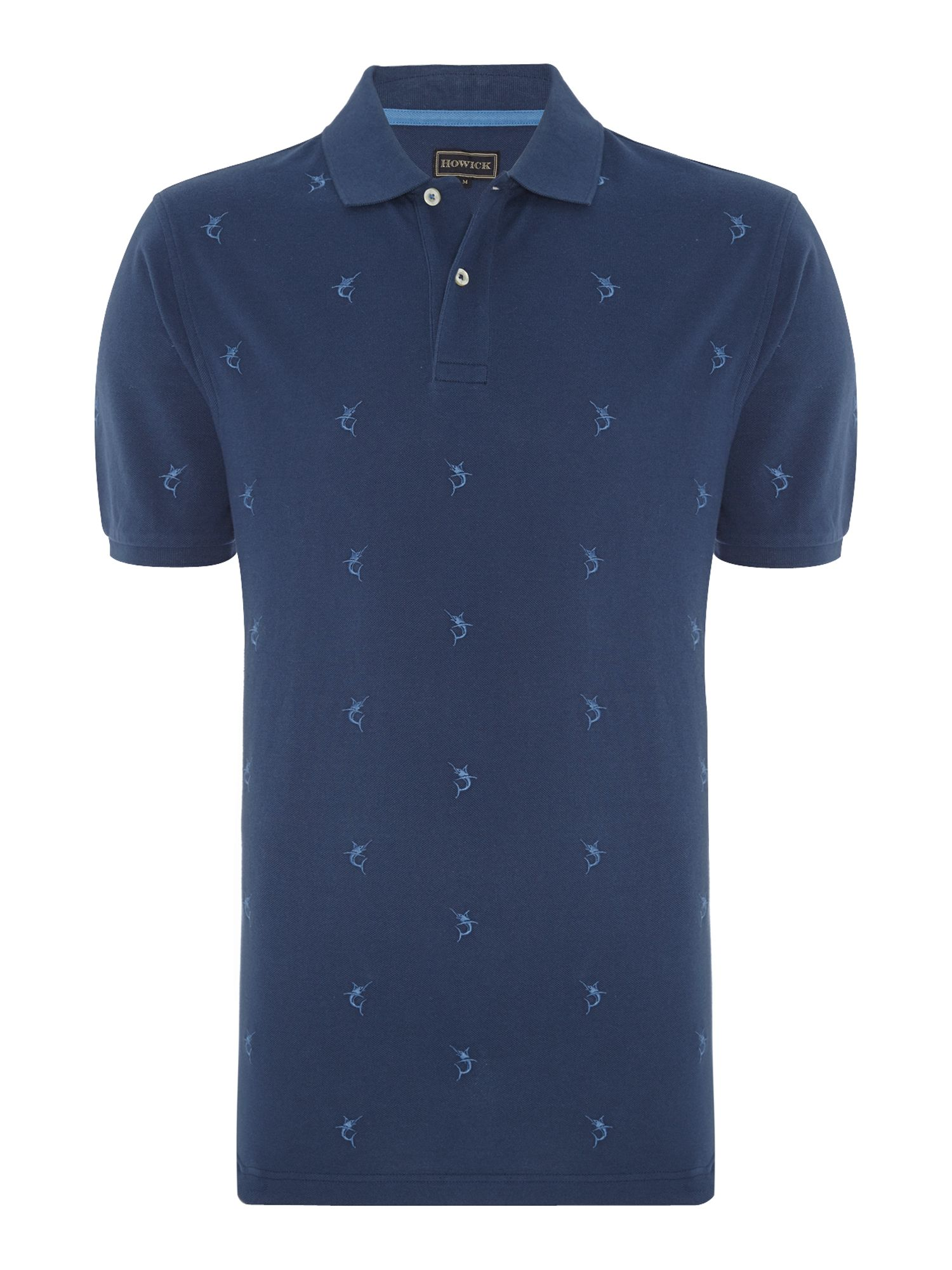 fishermans pique short sleeve polo