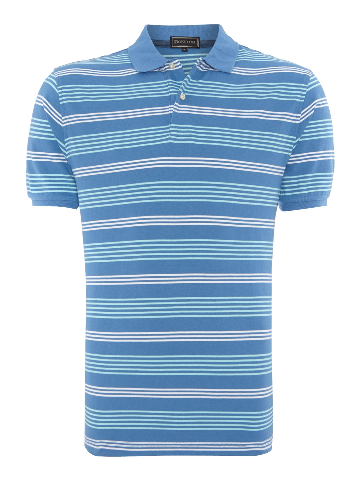 atlantic stripe short sleeve polo