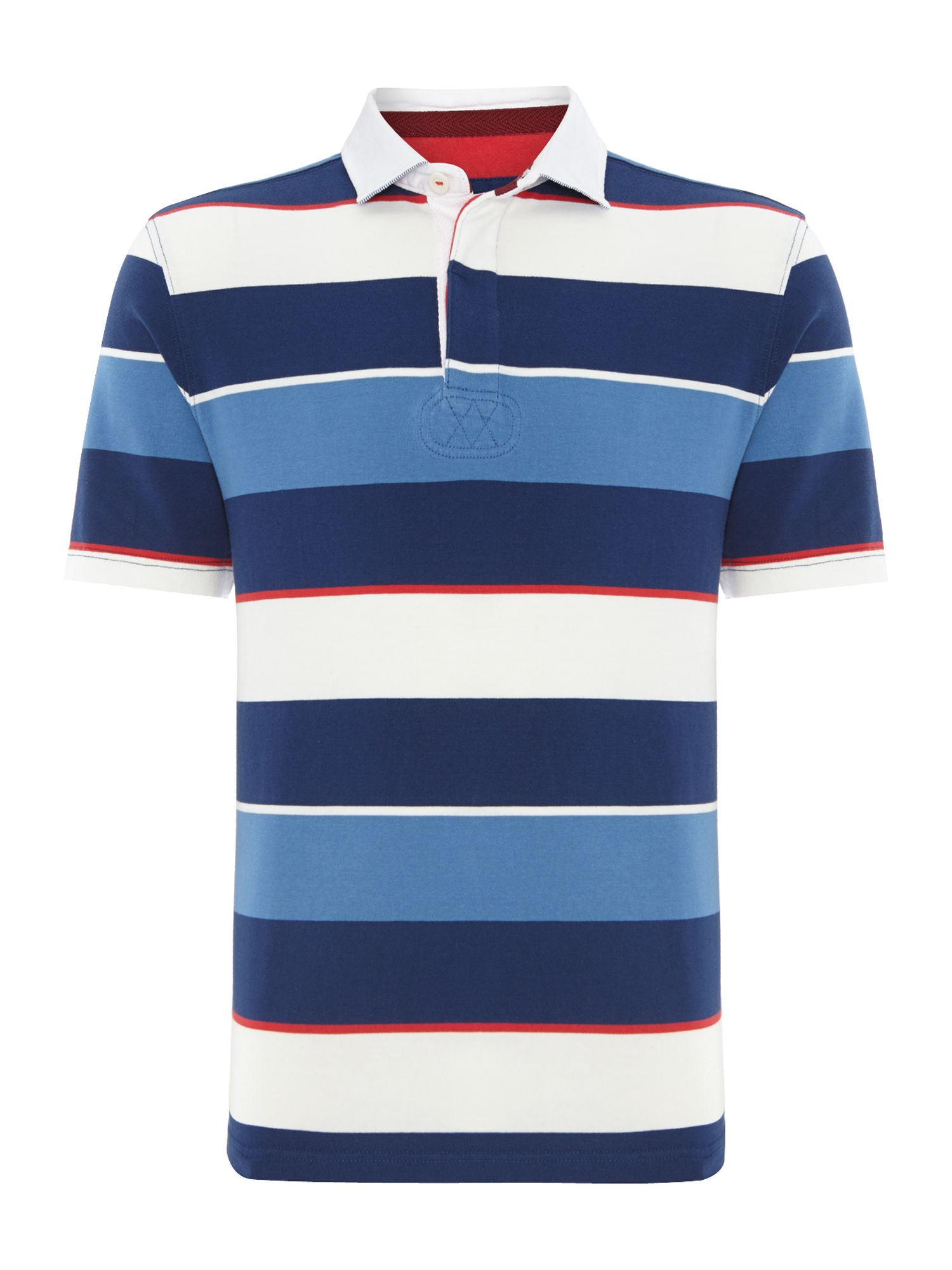 Southwold stripe short sleeve rugby shirt
