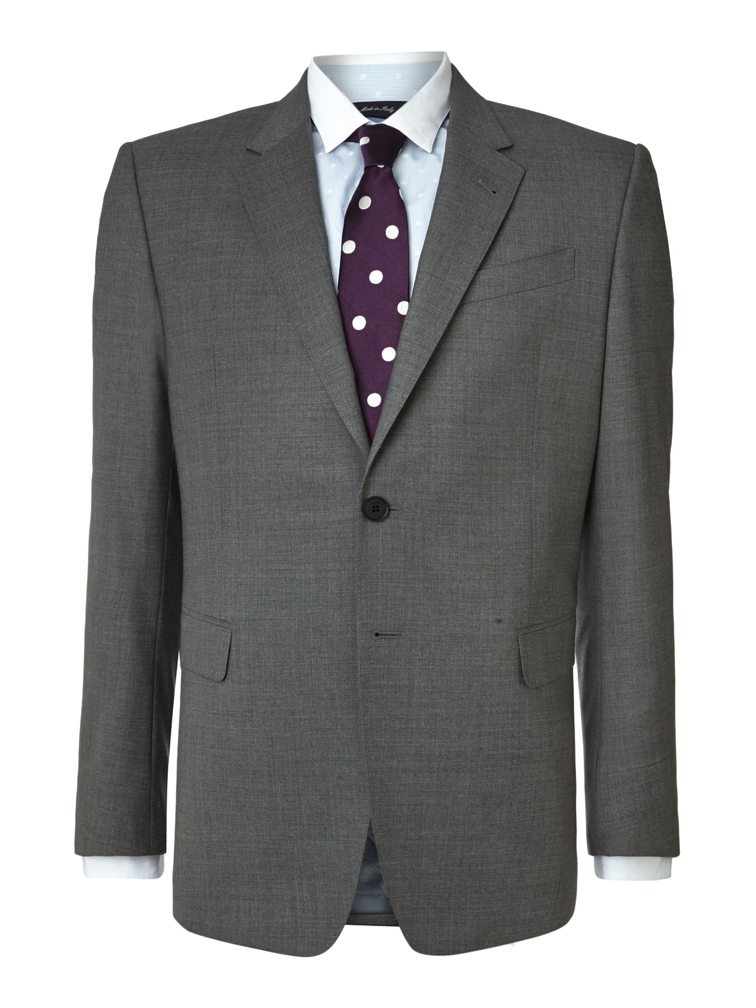 Byard melange stretch wool slim fit suit