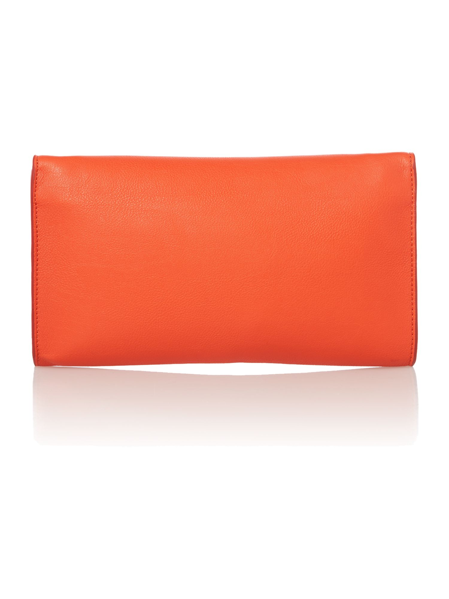 Dixie red clutch bag