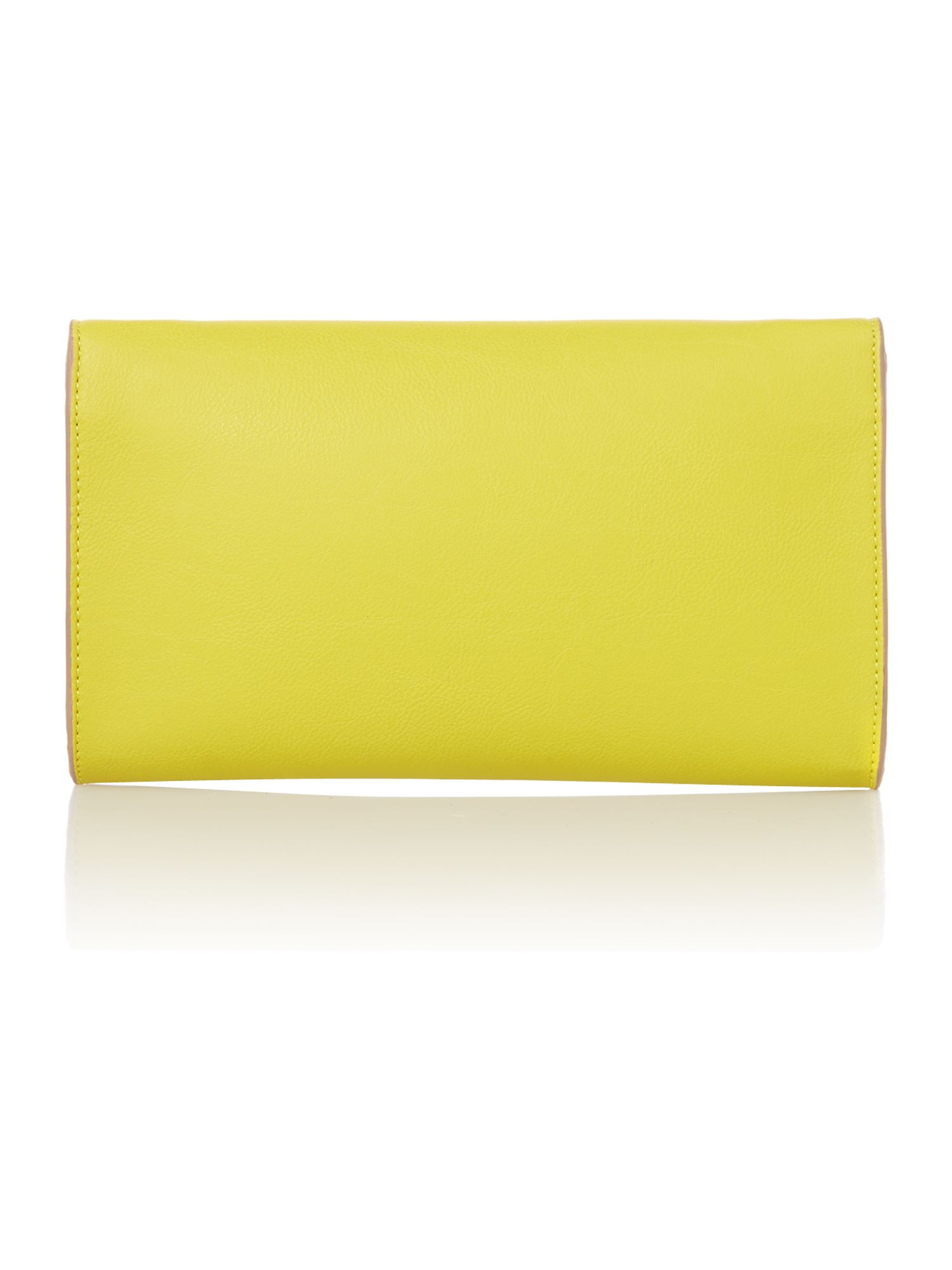 Dixie yellow clutch bag