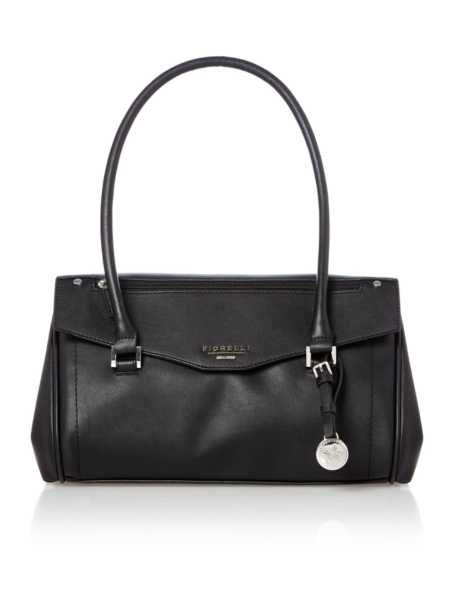 Francesca black tote bag