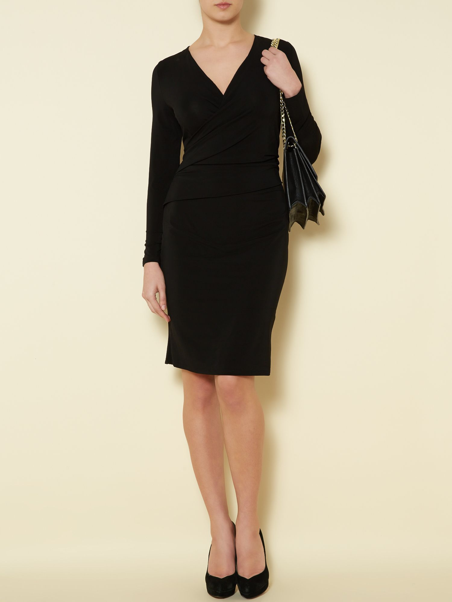 Twist luxe jersey dress