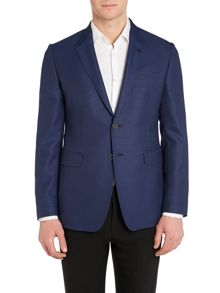 Basket weave slim fit jacket